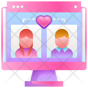 Online Dating Love Heart Icon