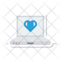 Laptop Love Screen Icon