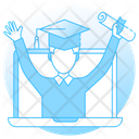 Certificate Online Diploma Online Degree Icon