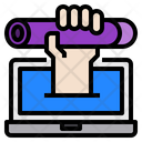 Elearning Graduate Laptop Icon