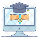 Online Degree Online Certificate Award Certificate Icon