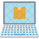 Online Delivery Logistics Delivery Online Laptop Icon