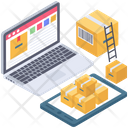 Online Delivery Services Logistic Services Online Order Icon