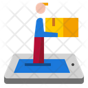 Delivery Online Courier Icon