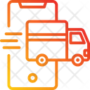 Tracking App Delivery Truck Mobile Phone Icon