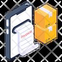 Online Logistics Bill Online Cargo Bill Online Delivery Invoice Icon