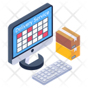 Online Delivery Service Electronic Delivery Online Logistic Icon