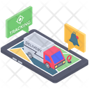 Online Delivery Tracking Logistic Tracking Order Tracking Icon