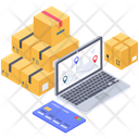 Online Delivery Tracking Parcel Tracking Order Tracking Icon