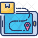 Online Delivery Tracking Order Parcel Icon