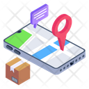 Mobile Parcel Tracking Online Shipment Tracking Online Shipping Address Icon