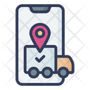 Online Delivery Tracking Shipment Tracking Order Tracking Icon