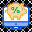 Online deposit money Icon