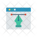 Online Design Illustration Icon