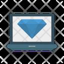 Diamond Design Laptop Icon