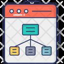 Online Digram Web Algorithm Flowchart Icon