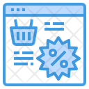 Discount Online Shopping Icon