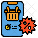 Discount Smartphone Shopping Icon