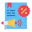 Discount File Megaphone Icon