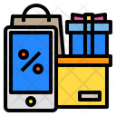 Discount Mobile Shopping Icon