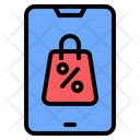 Black Friday Cyber Monday Online Shopping Icon