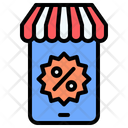 Black Friday Mobile Store Commerce And Shopping Icon