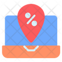 Black Friday Location Commerce And Shopping Icon