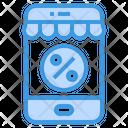 Online Discount Smartphone Shop Icon