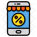Online Discount Smartphone Shop Icon