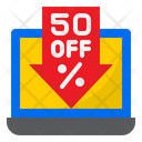 Online Discount Low Discount Sale Icon