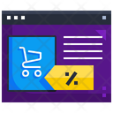 Online Discount Shopping Discount Discount Icon