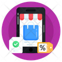 Mcommerce Online Discount Online Shopping Icon