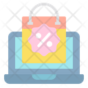 Online Discount Bag Online Shopping Offer Online Shopping Sale Icon