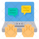 Online Discussion Icon