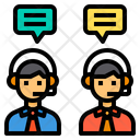 Online Discussion Support Meeting Icon
