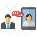 Online Discussion Web Chat Icon
