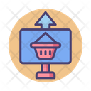 Online Distribution Online Shopping Distribution Icon