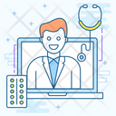 Online Medication Online Doctor Ehealthcare Icon