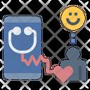 Online Doctor Treat Sick Icon