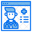 Online Doctor Online Checkup Doctor Icon