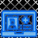 Online Doctor Laptop Online Heathcare Icon