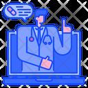 Online Doctor Online Healthcare Online Consultation Icon