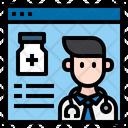 Online Doctor Advise Online Medicine Doctor Icon