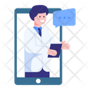 Online Checkup Online Treatment Online Doctor Icon