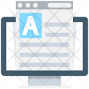 Online Document Text Icon