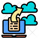 Cloud Document Email Icon