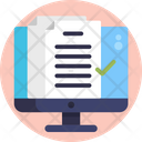 Online Document Online File Virtual Learning Icon