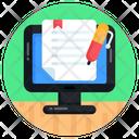 Online Paper Online File Online Document Icon