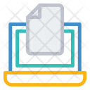 Document Online Laptop Icon