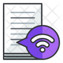 Wifi Document Online Icon